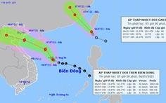 Hai áp thấp nhiệt đới đang hoạt động, một có thể thành bão hướng vào đất liền