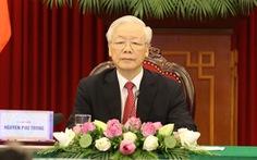 Tổng bí thư Nguyễn Phú Trọng phát biểu tại hội nghị các chính đảng thế giới