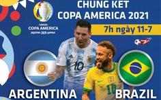 Lịch trực tiếp chung kết Copa America 2021: Argentina - Brazil, Messi gặp Neymar