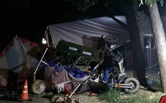 Gia đình 5 người đi xe ba gác về quê bị xe tải tông thương tâm
