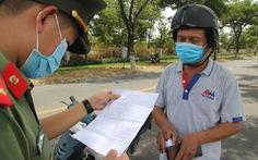 Cấp giấy thông hành qua mặt chốt chống dịch, Đà Nẵng siết mục đích ra đường