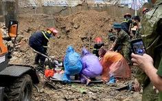 Sạt lở vùi lấp 4 người ở TP Hạ Long, chỉ 1 người sống sót