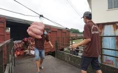 300 tấn hàng tỉnh Hòa Bình gửi đã tới, xe chở hàng phân phối ngay tới người dân
