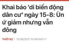 Di biến động - hiện tượng nói gộp trong tiếng Việt