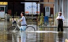 'Biển nước' sau mưa lớn chưa từng có ở Nhật Bản