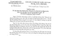 Phường Phước Long B, TP Thủ Đức cảnh báo đường link đăng ký hỗ trợ giả mạo