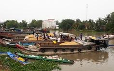 Ghe, thuyền khó thu gom lúa ở miền Tây vì vướng quy định chống dịch