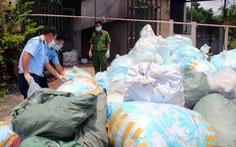 Đồng Nai bắt cơ sở tái chế hàng trăm ngàn khẩu trang phế liệu bán để kiếm lời