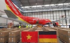 Chuyến bay Vietjet chuyên chở thiết bị y tế viện trợ từ Đức đã về tới Việt Nam