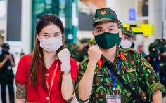 Tiếp tục các chuyến bay chở hàng ngàn cán bộ, bác sĩ, học viên quân y vào Nam chống dịch