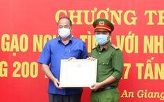 An Giang tặng bằng khen cho thượng úy công an cứu sản phụ sinh đôi