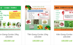 Website đặt túi combo nông sản 10kg quá tải, giao hàng không xuể