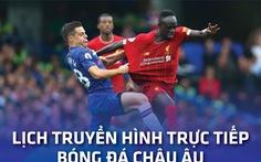 Lịch trực tiếp bóng đá châu Âu 28-8: Man City - Arsenal, Liverpool - Chelsea