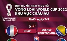Lịch trực tiếp vòng loại World Cup 2022 châu Âu: Pháp, Bồ Đào Nha thi đấu