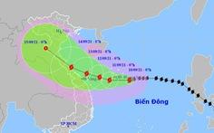 Bão số 5 còn tăng cấp, hướng vào vùng biển từ Quảng Trị đến Quảng Ngãi