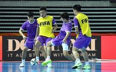 Tuyển futsal Việt Nam lạc quan chờ đấu Brazil