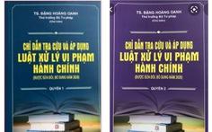 Sách mạo danh thứ trưởng Bộ Tư pháp chủ biên được chào bán đến tận Sở Tư pháp