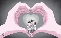 Dang vòng tay với trẻ mồ côi vì COVID-19
