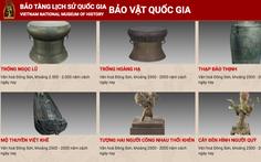 Bảo tàng Lịch sử quốc gia đưa khách tham quan online các bảo vật bằng công nghệ 3D