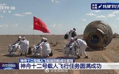3 phi hành gia Trung Quốc trở về Trái đất sau 3 tháng 'trên trời'