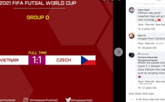 Cổ động viên bóng đá thế giới: 'Việt Nam thật ấn tượng'