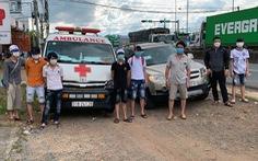 Phát hiện vụ chở 'lụi' 6 người từ TP.HCM, Đồng Nai về Nghệ An, Hà Tĩnh bằng xe cứu thương