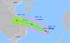 Áp thấp nhiệt đới trên Biển Đông hướng về các tỉnh Đà Nẵng - Bình Định