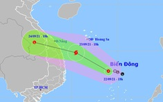 Áp thấp nhiệt đới trên Biển Đông có khả năng thành bão, hướng vào Trung Trung Bộ