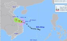 Bão số 6 ngay trên vùng biển ven bờ từ Thừa Thiên Huế đến Quảng Ngãi