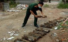 Phát hiện hầm đạn pháo nguy hiểm trong lúc đào móng xây bưu điện