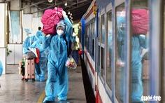 Ninh Bình đón 600 người dân từ TP.HCM, Bình Dương, Đồng Nai về bằng tàu hỏa