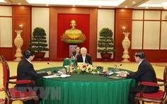 Tổng bí thư Nguyễn Phú Trọng dự cuộc gặp cấp cao Việt Nam - Campuchia - Lào