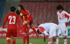 Đánh bại Tajikistan 7-0, tuyển nữ Việt Nam nhất bảng, giành vé dự Asian Cup 2022
