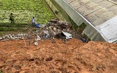 Sập taluy ở Đà Lạt đè chết 2 người trú mưa