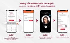 Agribank hỗ trợ người dân mở tài khoản trực tuyến ngay tại nhà