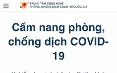Tìm thông tin bằng Cẩm nang điện tử phòng, chống dịch COVID-19