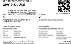 Đà Nẵng đã cấp hơn 92.000 giấy đi đường qua hình thức trực tuyến