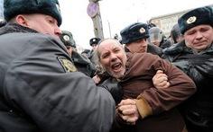 Cảnh sát Nga bắt 138 người biểu tình