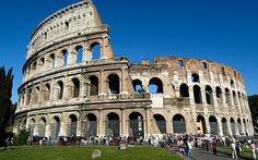 Đấu trường La Mã bị nghiêng