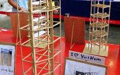 Mô hình nhà chống động đất của sinh viên Đà Nẵng