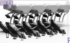 Thiết kế mới dành cho ghế ngồi trên máy bay