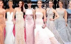 Đầm sáng màu rực rỡ Oscar 2013