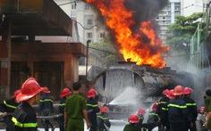 Tổ chức khám nghiệm hiện trường vụ cháy cây xăng ở Hà Nội