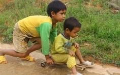 Xe bi của trẻ con Giẻ Triêng