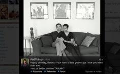 Bà Obama chúc mừng sinh nhật chồng qua Twitter