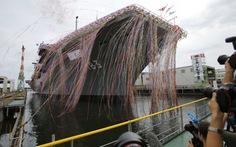 Nhật khoe tàu chiến lớn nhất