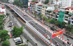 Chính thức thông xe cầu vượt Đại Cồ Việt - Trần Khát Chân