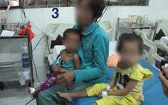 Mâu thuẫn gia đình, hai bé gái bị uống nước pha thuốc diệt cỏ