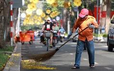 Sài Gòn làm sạch phố phường đón giao thừa