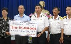 Thêm 100 triệu đồng ủng hộ chiến sĩ hải quân